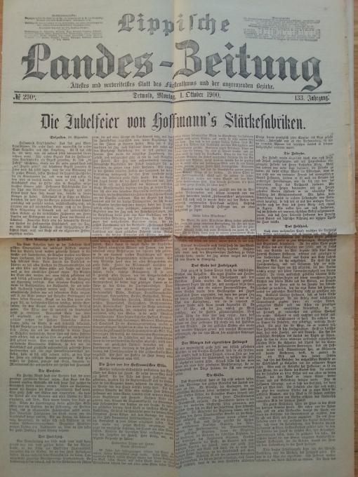 Hoffmann's Stärke 50-Jahr Feier 1900