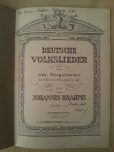 Notenheft Brahms Deutsche Volkslieder