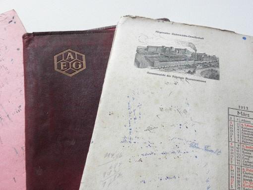 Löschblätter AEG 1913