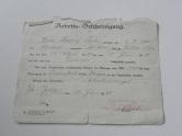 Arbeits-Bescheinigung 1928 Fa. Fischer