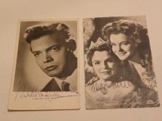Autogramme Magda und Romy Schneider, Karl-Heinz Böhm
