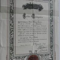 Klarer Kopf, geschickte Hand hilft dir fort in Stadt und Land - Führerschein 1937