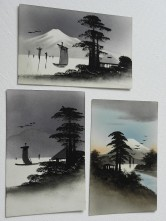 japanische Postkarten handgemalt