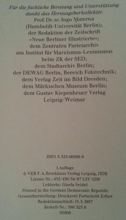 Buch Berlin DDR Bildband