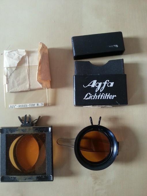 Zeiss Ikon Ikonta und Agfa Lichtfilter