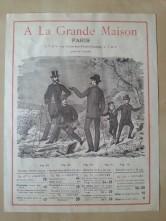 Chromo Konzertprogramm A La Grande Maison Sicard