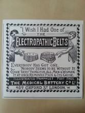 Werbung Elektro-Gürtel