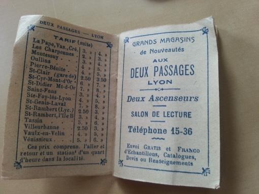Mini-Kalender Aux Deux Passages 1909