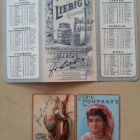 Liebig Taschenkalender 1889 - 1897
