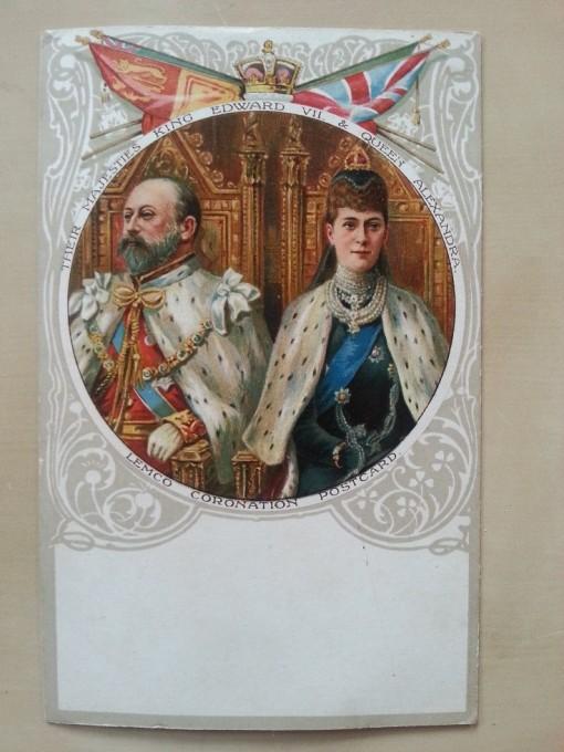 Liebig Postkarte Krönung 9. August 1902