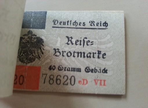 Deutsches Reich Reise-Brotmarke 1917, Abschnitt für 40 Gramm Gebäck