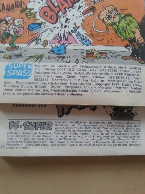 Comic Rolf Kauka FF-Super 1977 1973