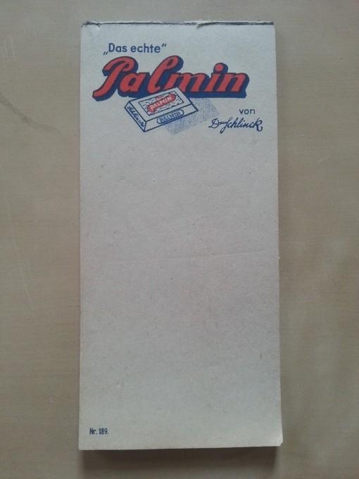 Notizblock Palmin