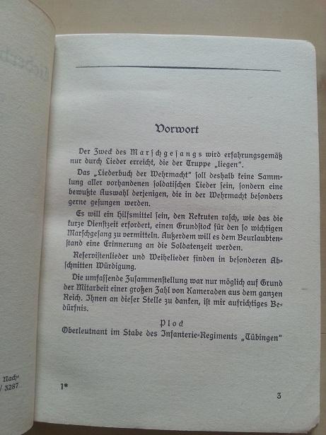 Liederbuch der Wehrmacht