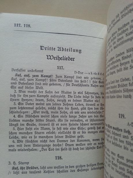 Liederbuch der Wehrmacht 1935 Auf, auf, zum Kampf