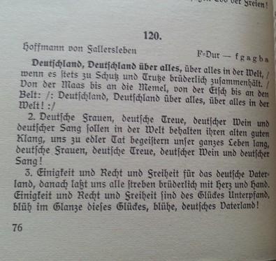 Liederbuch der Wehrmacht 1935 Deutschlandlied - Deutschland, Deutschland über alles