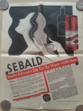 Prospekt Sebald Haarfarbe Gesichtswasser