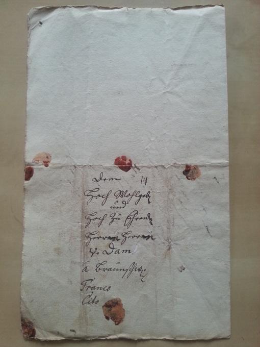 von Damm Anfrage - SIegelbrief von 1870