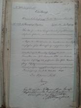 von Damm QUittung Vordruck 1840