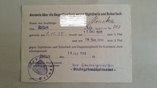 Impfschein 1944