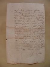 von Damm Brief 1720