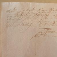 Briefsendung mit Rückschein - 24. Februar 1754