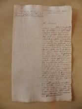 von Damm Brief 1779