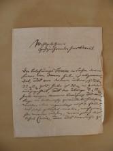 von Damm Brief 1743