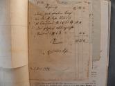 von Damm Rechnung 1857