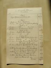 von Damm Jahresabrechnung 1901