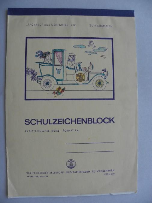 Schulzeichenblock