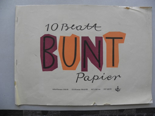 DDR Buntpapier