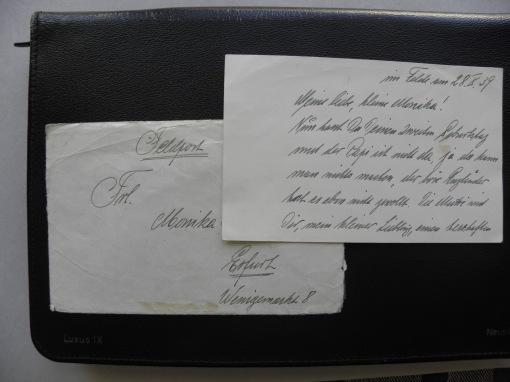 Feldpostbrief Opa Monika 1939