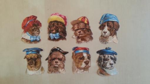Lackbilder Oblaten Steckbilder Steckies - Hunde