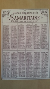 Chromo Kalender 1892