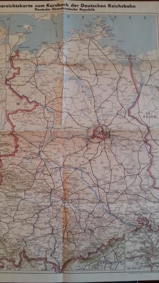 DDR Landkarte Kursbuch