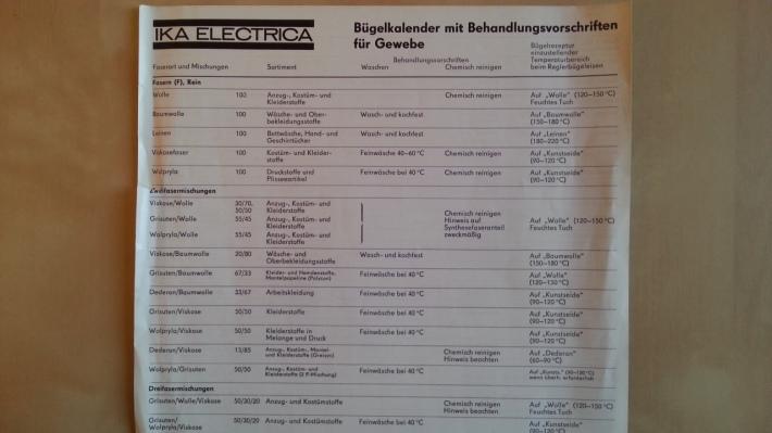 DDR AKA Electrica Bügelkalender