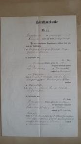 von Damm Heirathsurkunde 1905