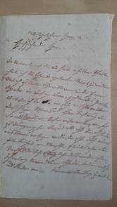 von Damm eigenhändiger Brief 1895