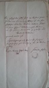 von Damm Seidel Geburtsurkunde 1860 Friedrich Wilhelm Seidel geb.18.7.1794