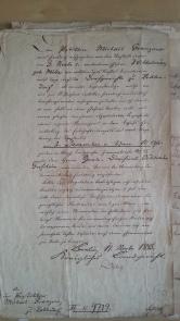 von Damm Postillon Granzow / Nachlass-Inventarium 1843