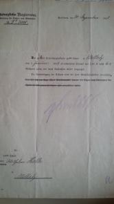"""Nachnahmebrief - Lehrer-Ernennung 30.12.1918 """"nicht mehr Königliche"""" Regierung"""