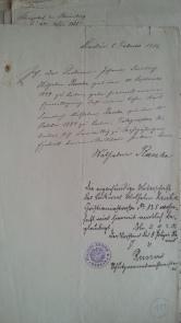 Erlaubnis zum Militärdienst des minderjährigen Sohnes Karl Friedrich Wilhelm (17,5 Jahre)