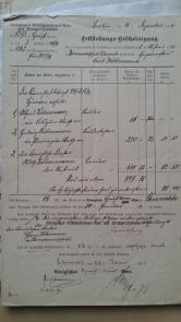 Königl. Erbschaftssteuer-Amt Feststellungs-Bescheinigung Köhnemann 29.6.1890