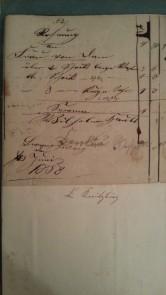 von Damm Rechnung 1858 Caroline Wetsphal 2 Stück lange ... 3 Stück kurze