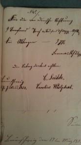 von Damm Rechnung 1858 9 Tausend Torf