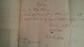 von Damm Rechnung 1858 9 Malter Holz kleingemacht und 11 Tausend Torf Carl Kreutzburg