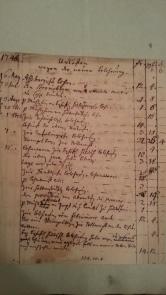 von Damm Unkosten wegen der neuen Belehnung 1748