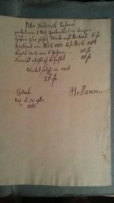 von Damm - Peter Friedrich Behrens Land-Miete 1762-1767