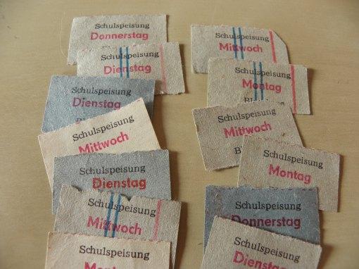 DDR Schulspeisung Essenmarken
